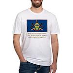Pennsylvania Proud Citizen Fitted T-Shirt