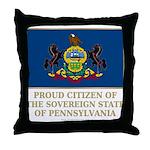 Pennsylvania Proud Citizen Throw Pillow