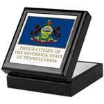 Pennsylvania Proud Citizen Keepsake Box