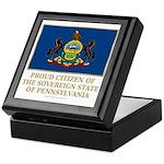 Pennsylvania Proud Citizen Keepsake Box