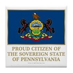Pennsylvania Proud Citizen Tile Coaster