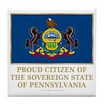 Pennsylvania Proud Citizen Tile Coaster