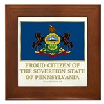 Pennsylvania Proud Citizen Framed Tile