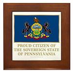 Pennsylvania Proud Citizen Framed Tile