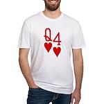 Qh 4h Poker Shirts Fitted T-Shirt