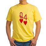 Qh 4h Poker Shirts Yellow T-Shirt