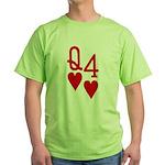 Qh 4h Poker Shirts Green T-Shirt