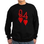 Qh 4h Poker Shirts Sweatshirt (dark)