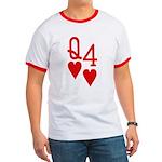 Qh 4h Poker Shirts Ringer T