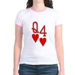 Qh 4h Poker Shirts Jr. Ringer T-Shirt