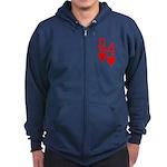 Qh 4h Poker Shirts Zip Hoodie (dark)