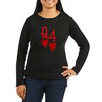 Qh 4h Poker Shirts Women's Long Sleeve Dark T-Shir