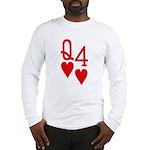 Qh 4h Poker Shirts Long Sleeve T-Shirt