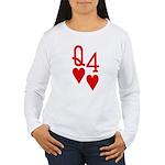 Qh 4h Poker Shirts Women's Long Sleeve T-Shirt