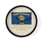 Oregon Proud Citizen Wall Clock