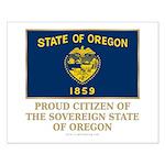 Oregon Proud Citizen Small Poster
