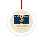 Oregon Proud Citizen Ornament (Round)