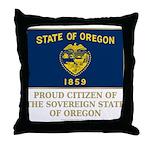 Oregon Proud Citizen Throw Pillow