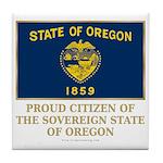 Oregon Proud Citizen Tile Coaster