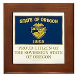 Oregon Proud Citizen Framed Tile