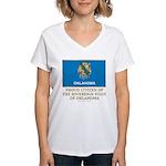 Oklahoma Proud Citizen Women's V-Neck T-Shirt