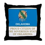 Oklahoma Proud Citizen Throw Pillow