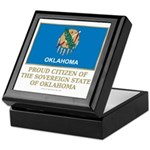 Oklahoma Proud Citizen Keepsake Box