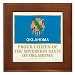 Oklahoma Proud Citizen Framed Tile