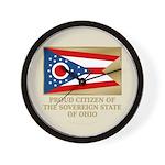 Ohio Proud Citizen Wall Clock
