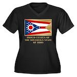 Ohio Proud Citizen Women's Plus Size V-Neck Dark T