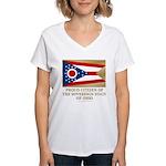 Ohio Proud Citizen Women's V-Neck T-Shirt