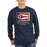 Ohio Proud Citizen Long Sleeve Dark T-Shirt