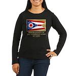 Ohio Proud Citizen Women's Long Sleeve Dark T-Shir
