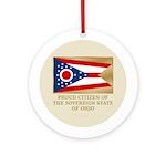 Ohio Proud Citizen Ornament (Round)