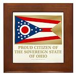 Ohio Proud Citizen Framed Tile