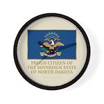 Proud Citizen of North Dakota Wall Clock
