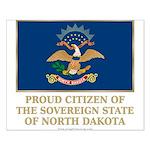 Proud Citizen of North Dakota Small Poster