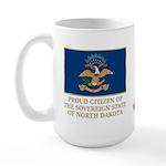 Proud Citizen of North Dakota Large Mug