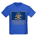 Proud Citizen of North Dakota Kids Dark T-Shirt