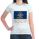 Proud Citizen of North Dakota Jr. Ringer T-Shirt