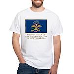 Proud Citizen of North Dakota White T-Shirt