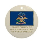 Proud Citizen of North Dakota Ornament (Round)