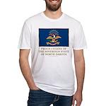 Proud Citizen of North Dakota Fitted T-Shirt