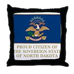 Proud Citizen of North Dakota Throw Pillow