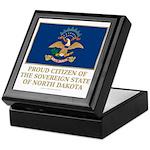 Proud Citizen of North Dakota Keepsake Box