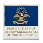 Proud Citizen of North Dakota Tile Coaster