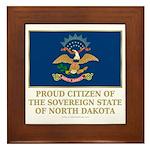 Proud Citizen of North Dakota Framed Tile