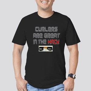 Curlers are Great in the Hack Men's Fitted T-Shirt