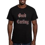 Good Curling Men's Fitted T-Shirt (dark)