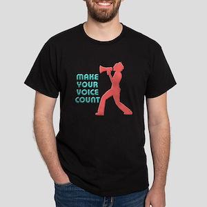 Make Your Voice Count Dark T-Shirt